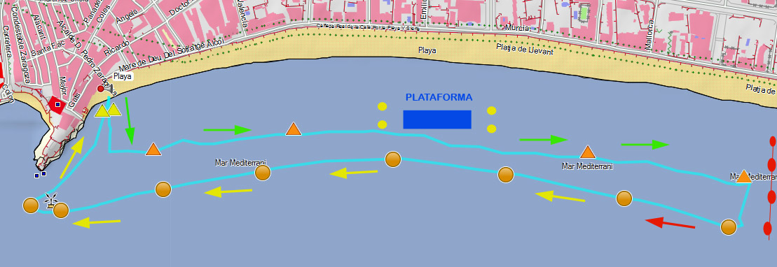 circuito travesia playa levante